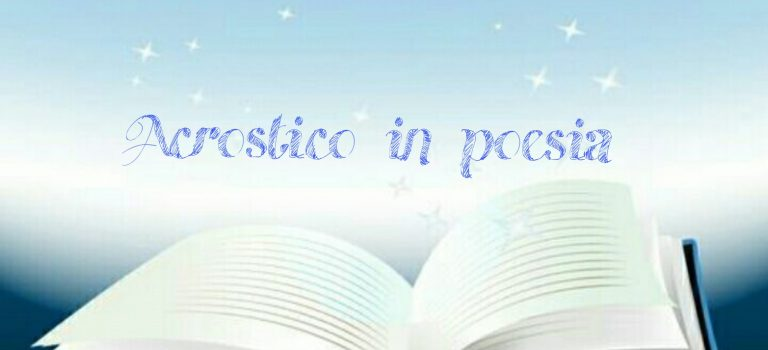 Acrostico in poesia